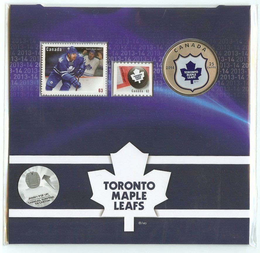 2014 Nhl 25 Cent Color Coin And Stamp Set Toronto Maple Leafs Only 6000 Made Collectors Dreams