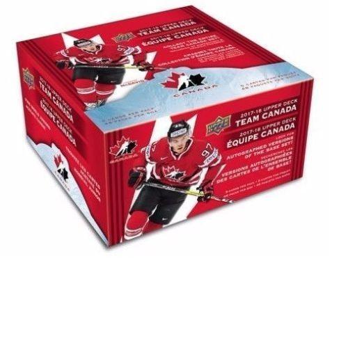 2017-18 Upper Deck Team Canada Hockey Hobby Box --Canadian Tire Exclusive