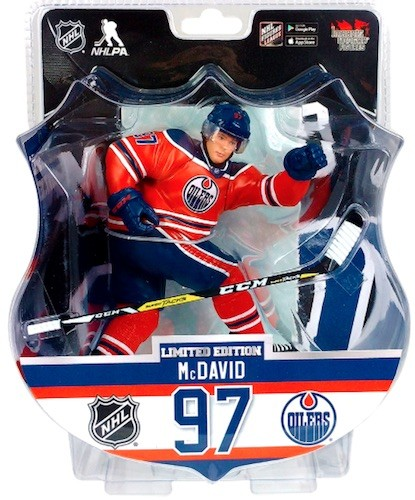 "2017 CONNOR McDAVID  6"" Action Figure - Edmonton Oilers 2850 Produced"