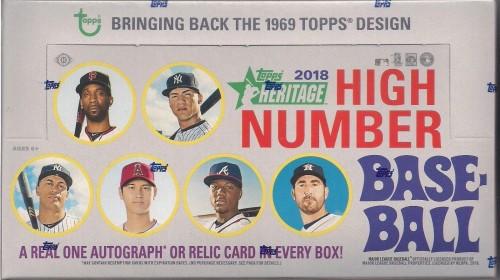 2018 Topps Heritage High Number Hobby Baseball Box