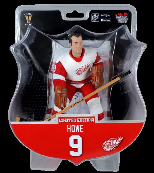 """2017 PSA NHL GORDIE HOWE Detroit Red Wings Alumni 6"""" Hockey Figure 7800 Produced"""