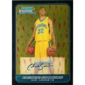 2006-07 Bowman Chrome Cedric Simmons Autograph Rookie