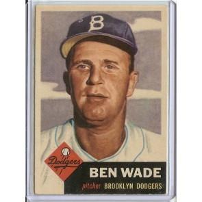 1953 Topps Ben Wade Single