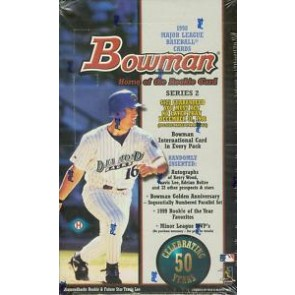 1998 Bowman Series 2 Baseball Hobby Box