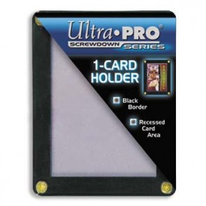 Ultra Pro Black Frame Screwdown 1 Card (5 Lot)