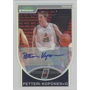 2007-08 Bowman Chrome Petteri Koponen Rookie Refractor Autograph 303/599
