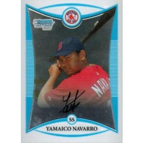 2008 Bowman Chrome Prospects Yamaico Navarro Base Single