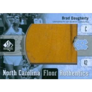 2011-12 Upper Deck SP Authentic Brad Daugherty North Carolina Floor Authentics
