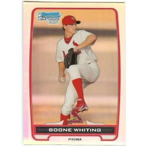 2012 Bowman Chrome Boone Whiting Refractor 148/500