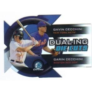 2014 Bowman Chrome Dual-Ing Die Cuts Gavin Cecchini Garin Cecchini