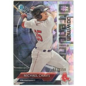 2018 Bowman Chrome Michael Chavis Bowman Trending Insert Atomic Refractor #MC #'d 003/150