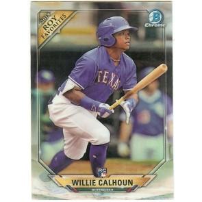 2018 Bowman Chrome Willie Calhoun ROY Favorites RC Refractor Texas Rangers