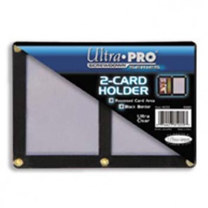 Ultra Pro Black Frame Screwdown 2 Card (5 Lot)