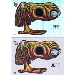 2013 TOPPS 75th ANNIVERSARY #33 UGLY STICKERS JEFF 1965 FOIL & BASE SINGLE