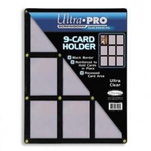Ultra Pro Black Frame 9 Card Screwdown (2 lot)