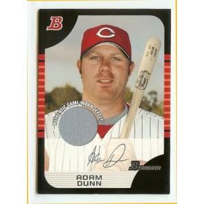 2005 Bowman Adam Dunn Authentic Game-Worn Memorabilia