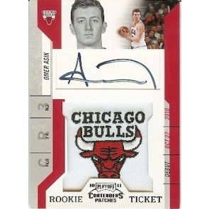 2010-11 Panini Playoff Contenders Omer Asik Chicago Bulls Logo Patch Autograph