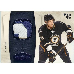2010-11 Panini Dominion David Backes Nameplate Patch 2 color 22/25