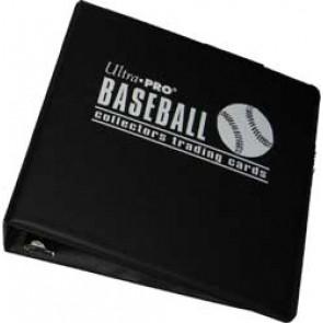 "Ultra Pro 3"" Baseball Binder Black"