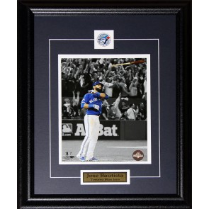 Jose Bautista Toronto Blue Jays Bat Flip Home Run 2015 AL Finals 8x10 frame