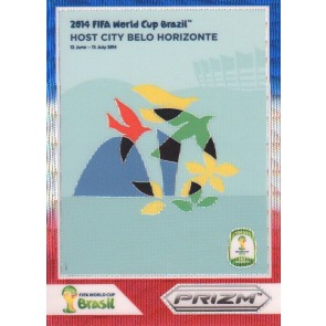 2014 Panini Prizm Fifa World Cup Host Cities Belo Horizonte Blue Red Wave
