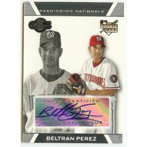 2007 Topps Co-Signers Beltran Perez Autograph Rookie