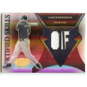 2001 Leaf Certified Lance Berkman Game Used Memorabilia 095/250