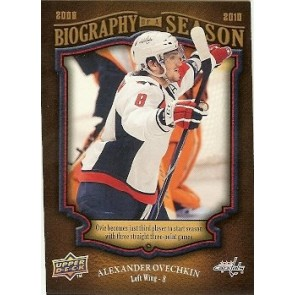2009-10 Upper Deck Alexander Ovechkin Biography of a Season