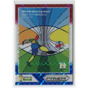 2014 Panini Prizm Fifa World Cup Host Cities Brazil Red White Blue Power Plaid