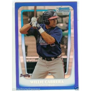 2011 BOWMAN CHROME WILLIE CABRERA PROSPECT BLUE REFRACTOR #d 127/250