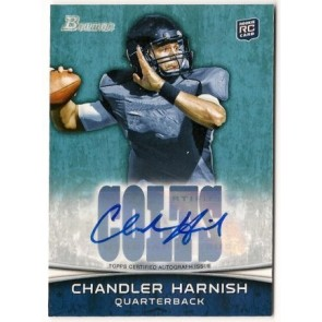 2012 Bowman Signatures Chandler Harnish Autograph Rookie