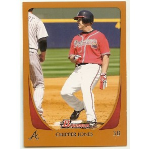 2011 Bowman Orange #17 Chipper Jones 248/250  Atlanta Braves