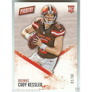 2016 Panini Kickoff Day CODY KESSLER 03/50 SP Rookie Browns Card #50
