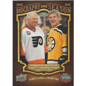 2009-10 Upper Deck Biography of a Season Bobby Clarke Bobby Orr Card# BOS-19