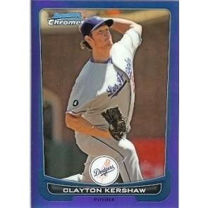 2012 Bowman Chrome Clayton Kershaw Blue Refractor 017/250