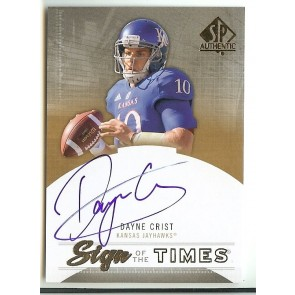 2013 SP Authentic Dayne Crist Sign of the Times Autograph