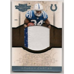 2011 Panini Plates & Patches Delone Carter Game Patch 2 color Memorabilia 08/15