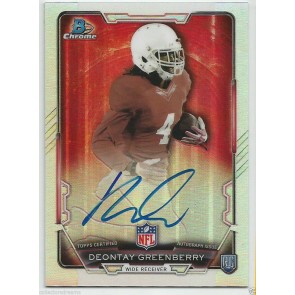 2015 BOWMAN CHROME REFRACTOR ON CARD AUTO DEONTAY GREENBERRY