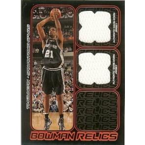 2006-07 Bowman Draft Picks & Stars Tim Duncan Bowman Relics 057/249