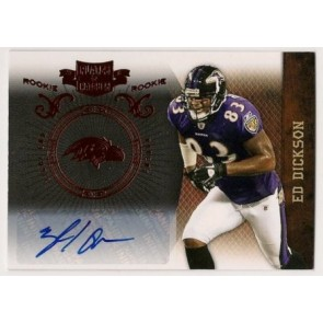 2010 Panini Plates & Patches Ed Dickson Rookie Autograph 151/449