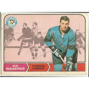 1968-69 O-Pee-Chee #102 Earl Ingarfield Pittsburgh Penguins