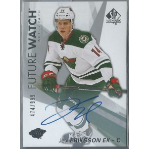 2016-17 SP AUTHENTIC FUTURE WATCH JOEL ERIKSSON EK AUTOGRAPH RC 474/999