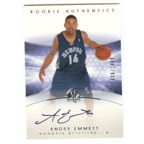 2004-05 Upper Deck SP Authentic Andre Emmett Autograph Rookie 1406/1499