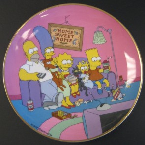 """The Simpsons """"A Family for the 90's"""" Collectible Plate"""