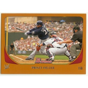 2011 Bowman Orange #173 Prince Fielder Brewers 211/250