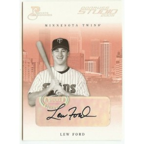 2005 Donruss Studio Lew Ford Private Signings 078/100
