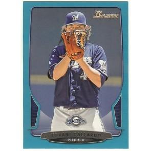 2013 Bowman Blue #64 Yovani Gallardo Brewers 386/500