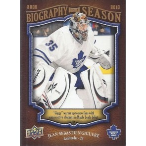 2009-10 Upper Deck Biography of a Season Jean Sebastien Giguere Card# BOS-24
