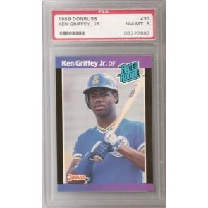 1989 Donruss Ken Griffey Jr. Rookie Graded PSA 8 NM-MT