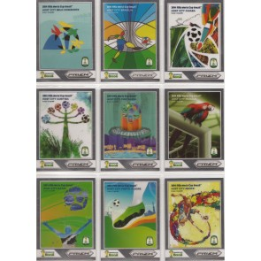 2014 Panini Prizm Fifa World Cup Host Cities Curitiba Blue Red Wave